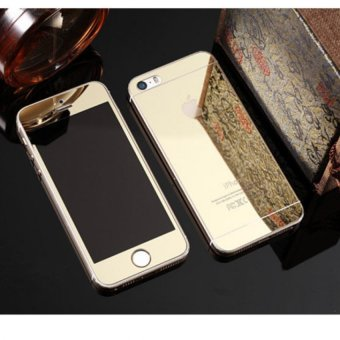 iphone 5s gold. mirror style front and back tempered glass for iphone 5 / 5s (gold) iphone 5s gold