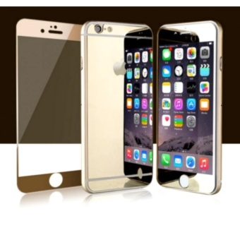 Mirror Style Front and Back Tempered Glass for iPhone 6 / 6s (Gold)