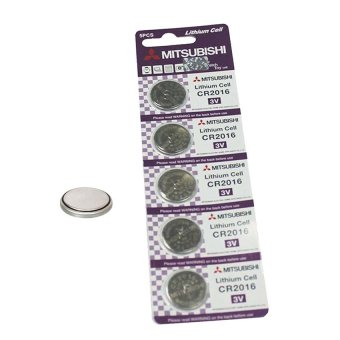 Mitsubishi CR2016 Lithium Cell Button Battery 5 Pieces