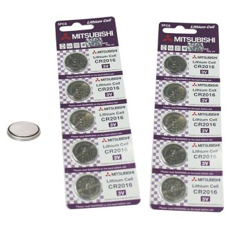 Mitsubishi CR2016 Lithium Cell Button Battery, 5 Pieces Pack of 2 Price Philippines