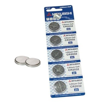 Mitsubishi CR2032 Lithium Cell Button Battery 5 Pieces Price Philippines