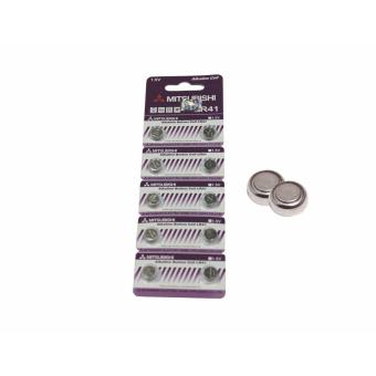 Mitsubishi LR41 Alkaline Cell Button Battery 10 Pieces