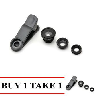 MMC 3-in-1 Macro/Fish-eye/Wide Clip Lens for Mobile Phone andTablets Buy 1 Take 1 Black Price Philippines