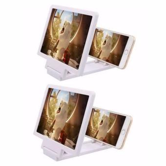 Mobile Phone 3D Screen Enlarger (White) Set Of 2 Price Philippines