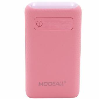 MODEALL M-03 20000mah LCD Display Dual Port PowerBank withFlashlight (Pink) - 3