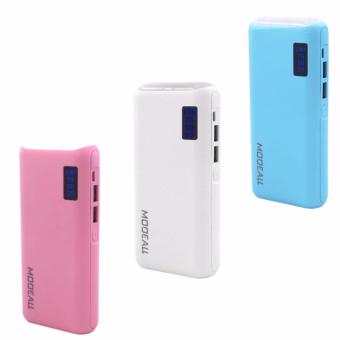 MODEALL M-033 20000mah LCD Display Dual Port PowerBank withFlashlight (Pink,White,Blue) Set Of 3