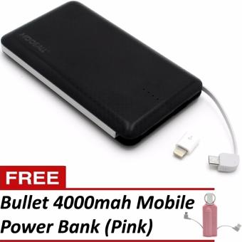 MODEALL M-04 20000mah Triple Port PowerBank (Black) With FreeBullet 4000mah Mobile Portable Power Bank (Pink)