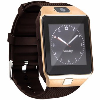 Modoex DZ09 Bluetooth Touch Screen Smart Wrist Watch Phone with Camera (Gold/Brown)