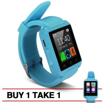 Modoex M8 Bluetooth Smart Watch (Blue) Buy 1 Take 1