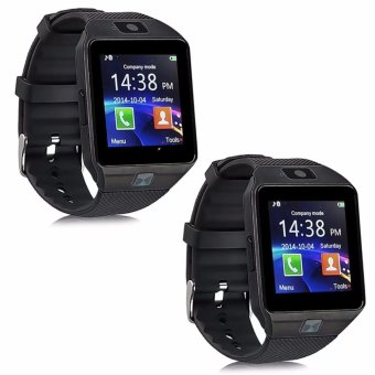 Modoex M9 Phone Quad Smart Watch (Black) Set of 2