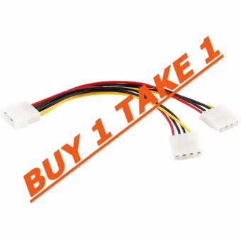 Molex 6 Inches 4 Pin Power Supply Y Splitter Cable 1 Male to 2Female Buy 1 Take 1