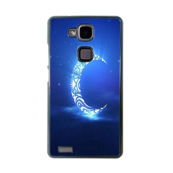 Moon Night Pattern Phone Case for Huawei Mate 7 (Black)
