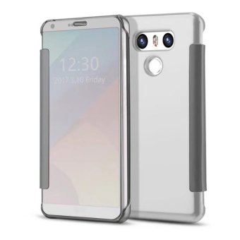 Mooncase Case For LG G6 Flip Specular Mirror Protective Cover Casewith Smart Sleep Silver - intl
