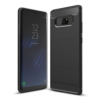 Mooncase Case for Samsung Galaxy Note 8 Carbon Fiber Resilient DropProtection Anti-Scratch Rugged Armor Case Red - intl