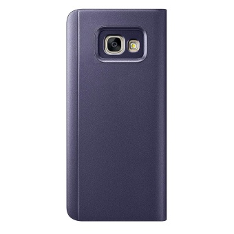 Mooncase Samsung Galaxy A7 2017 Case, Pro Flip Specular MirrorProtective Cover Case with Smart Sleep Purple - intl - 2
