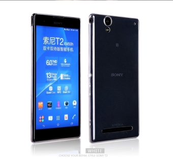 Moonmini Case for Sony Xperia T2 Ultra - Transparent Ultra-thin0.5mm Soft Flexible