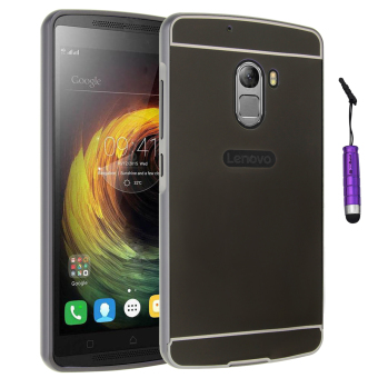 Moonmini Metal Frame Bumper Case PC Back Cover for Lenovo K4 Note A7010 (Black)