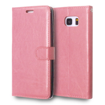 Moonmini PU Leather Flip Stand Case Wallet Cover for Samsung GalaxyNote 5 (Pink)