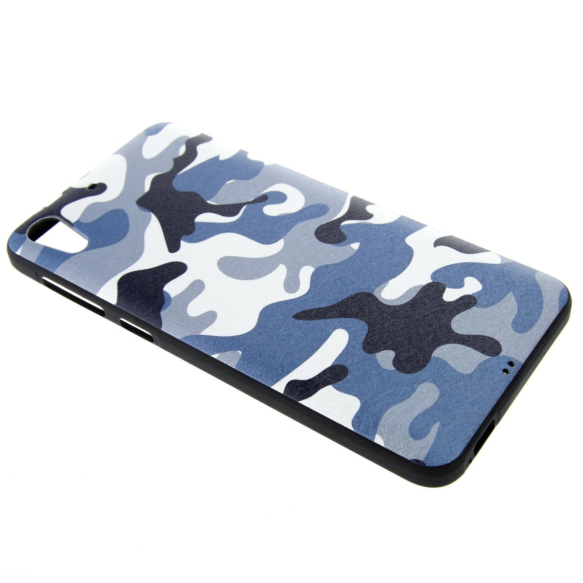 Moonmini Silicone Back Case Cover for HTC Desire 728 (Multicolor) -
