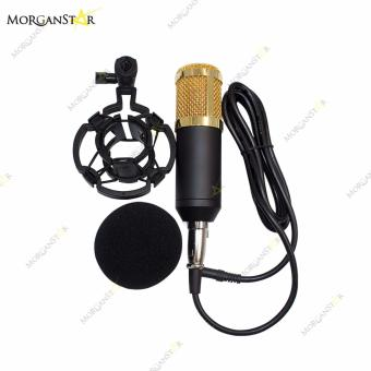Morganstar Condenser Microphone Recording With Shock Mount Kit(Black)