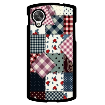Mosaic Check Pattern Phone Case for LG Nexus 5 (Black)