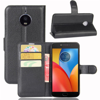 Motorola E4/E4 drop-resistant card instert protective leather cover phone case