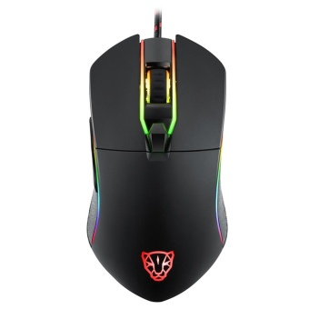 MOTOSPEED V30 Ergonomic Programmable Gaming Mouse 6 Buttons SupportMacro Programming Adjustable 3500DPI Optical USB Wired Full ColorRGB Breathing LED Backlit Game Mice - intl