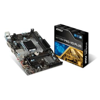 MSI H110M PRO-VD PLUS 1151 PCIe Ddr4 Motherboard Socket