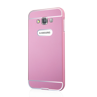 Msvii Metal Frame with Back Cover Case for Samsung Galaxy E7/E7000 (Pink)