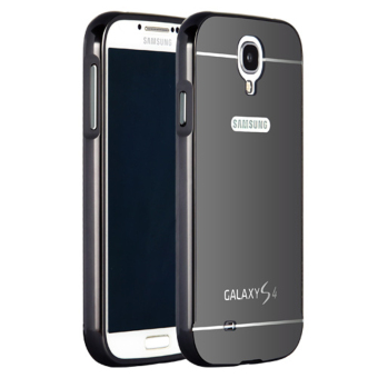 Msvii Metal Frame with Mirror Plating Back Case for Samsung Galaxy S4 (Black)