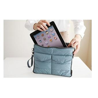 Multi-functional Gadget Pouch Bag in Bag Handbag Travel Storage BagOrganizer for iPad /Tablets (Blue)