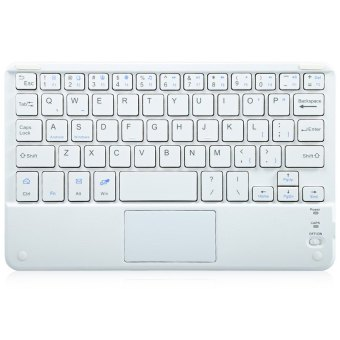 Multifunctional Ultra Thin Wireless Bluetooth 3.0 Keyboard withTouch Pad for PC Tablet Laptop (White) - 2