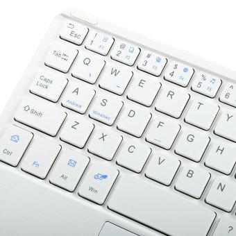 Multifunctional Ultra Thin Wireless Bluetooth 3.0 Keyboard withTouch Pad for PC Tablet Laptop (White) - 4