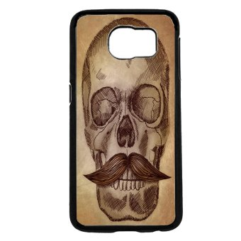 Mustache Mania Pattern Phone Case for Samsung Galaxy S6 (Brown)