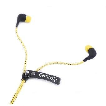 Muzip AHP-118 Zipper In-Ear Headphone (Yellow)
