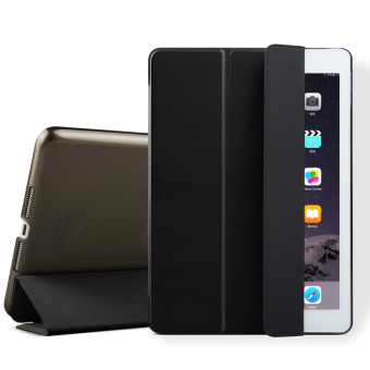 Mypro Young Series Ultra Slim Smart Cover with Auto Sleep/Wake Function for Apple iPad Air 2/iPad 6 (Black)