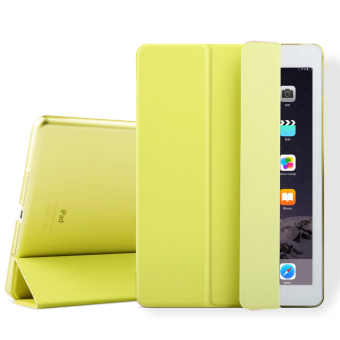 Mypro Young Series Ultra Slim Smart Cover with Auto Sleep/Wake Function for Apple iPad Mini 1/2/3 (Yellow)