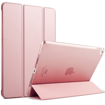 Mypro Young Series Ultra Slim Smart Cover with Auto Sleep/WakeFunction for Apple iPad Air 2/iPad 6 (Rose Gold)