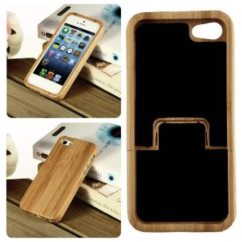 Natural Bamboo Wood Hard Back Case Cover Protector For Apple iPhone SE/5S/5