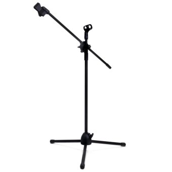 NB - 107 Microphone Tripod Stand with Dual MIC Clip 360 DegreesRotating Boom Arm - Intl Price Philippines