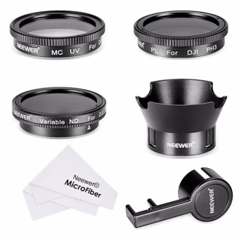 Neewer Filter & Accessory Kit for DJI Phantom 3 4K, Advanced,Professional and Standard: UV Filter + CPL Filter + ND2-400 Filter+ Rose Petal Lens Hood + Lens Cap Protector + Cleaning Cloth - intl