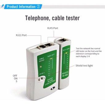 Network Cable Tester RJ45 RJ11 RJ12 CAT5 UTP LAN Networking Tool - 2