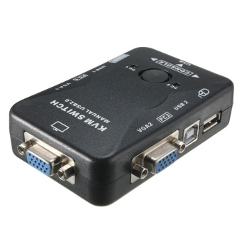 NEW 2 Port USB2.0 VGA KVM Switch Box Monitor ComputerVideoConverter Adapter - intl