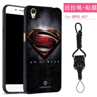 NEW 3D Painting Embossed Fashion Painting Matting Silicone soft silicone/ TPU Phone Case / Anti falling Phone Cover/Shockproof Phonecase /Phone Protector for Oppo A37 / oppo a37 /OppoA37/oppoA37/oppoa37/ oppo A37(1 X Phone Case + 1 X Hang Rope) - intl