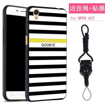 NEW 3D Painting Embossed Fashion Painting Matting Silicone softsilicone/ TPU Phone Case / Anti falling Phone Cover/ShockproofPhonecase /Phone Protector for Oppo A37 / oppo a37/OppoA37/oppoA37/oppoa37/ oppo A37(1 X Phone Case + 1 X Hang Rope)- intl