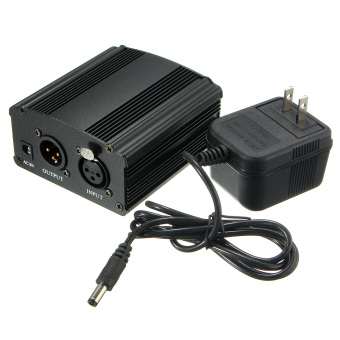 New 48V Phantom Power Supply with Adapter for Condenser MicrophoneUS plug - intl Price Philippines