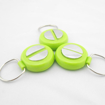 New April Fool's Day Safe Joking Harmless Electric Shock PeoplePatting Shaking Hands Fun Shocker Toys with Keychain Ring - 5