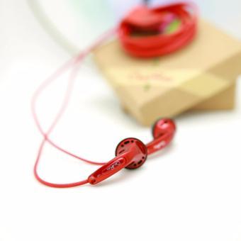 New Arrival CR01 3.5mm In-ear Earphones Flat Head Plug EarphoneHiFi Bass Earbuds Earbuds Dynamic Driver Copper without Mic - intl - 2