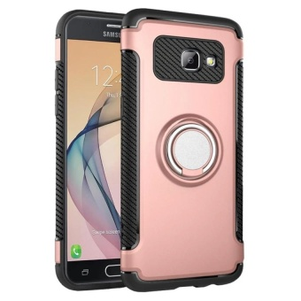 New Arrival For Samsung Galaxy J7 Prime TPU+PC 2in1 Ring HolderPhone Case/Amor Rugged Shockproof Built-in Stand Vehicle-mountedAdsorb Case Cover for Galaxy J7 Prime - intl