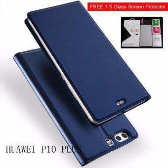 New Crashproof Flip Leather Magnet Phone Case for HUAWEI P10 PLUS -intl